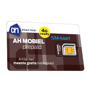 AH mobiel prepaid simkaart
